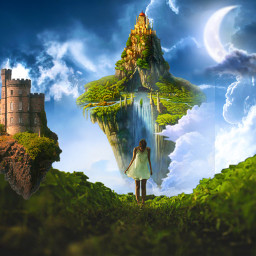 freetoedit fantasyart makebelieve floatingisland alternateuniverse