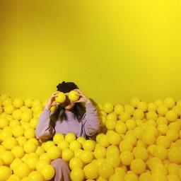 freetoedit picsart yellow artistic people