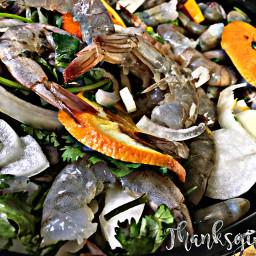 thanksgiving partone foodlove seafood shrimp freetoedit fcthanksgiving