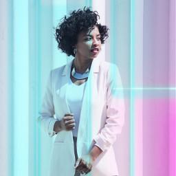 freetoedit woman neon art mystyle