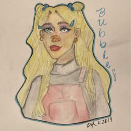 bubbles powerpuffgirls painting watercolor softgirl
