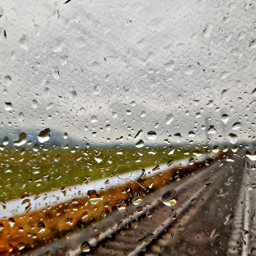 railway railroad raindrops rainyday frommywindow freetoedit