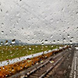 railway railroad raindrops rainyday frommywindow freetoedit