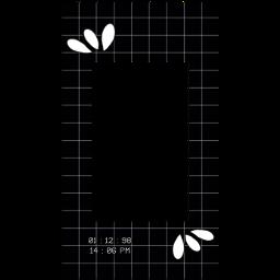 checkered black white border png freetoedit