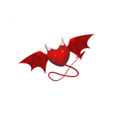 heart red horns devil tail freetoedit