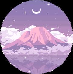 mountain pink pinkmoon freetoedit scmountains mountains
