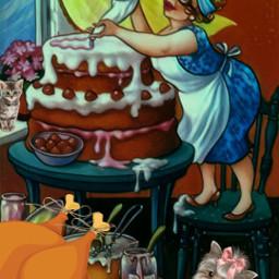 freetoedit thanksgiving woman cook baker fcthanksgiving