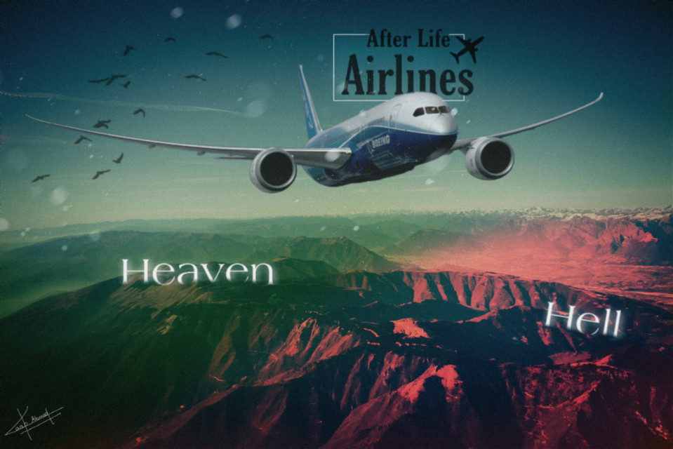 "After Life Airlines  "" You have to fly with us "" Image used from ""unsplash"" #freetoedit #surreal #real #trending #vip #plane #heaven #hell #concept #edited #art #myart #picsart #heypicsart @edwincruz09 @picsart @picsartchina @omertasdemir @rishabhkhatri202 @huitzlipochtli @larysawypych13 @heleen12 @dulce56184 @heleen12 @adarshimishra @dtsdk @colochis89 @-athraa @iam-boski @zehra_art"
