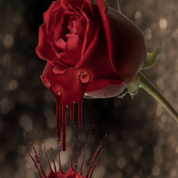 myedit darkart dark blood flower freetoedit