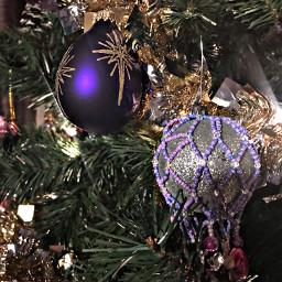 freetoedit purple ornaments christmas christmastree