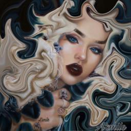 freetoedit @asweetsmile1 swirl woman pretty gd