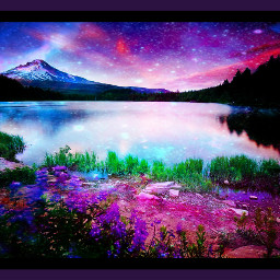 freetoedit doubleexposure border purple water