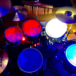 drums lights colorful music freetoedit
