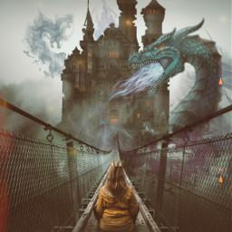 freetoedit princess castle dragon ircfoggybridge foggybridge