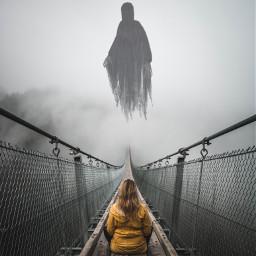 freetoedit madewithpicsart horror fog grimreaper ircfoggybridge foggybridge
