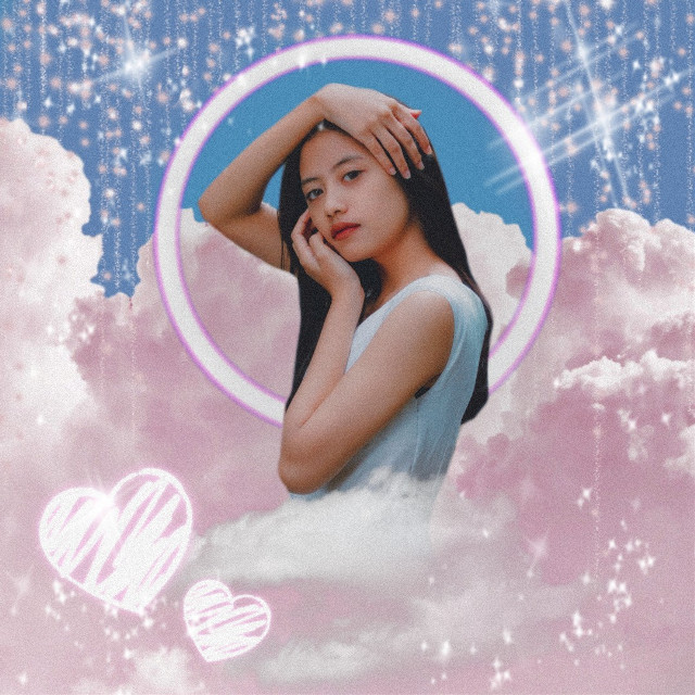 #freetoedit #pink #aesthetic #pinkaesthetic #pink #theme #pastel #pink #cloud #clouds #replay #replays #aesthetics #sky #circle #frame #neon #pinkneon #heart #hearts #love #asian #pretty #model #woman