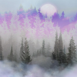 freetoedit pinetrees pastelcolors winter backgrounds