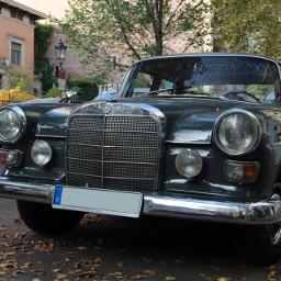 follow mercedes benz car old