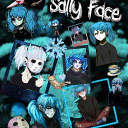 sallyface sally face blue sal freetoedit
