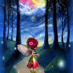 freetoedit fantasyart fwooda forest fairy fairylights fireflies cute stickers picsarteffects vignetteeffect myedit madewithpicsart