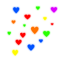 hearts glow colorful rainbow beautiful ftestickers freetoedit