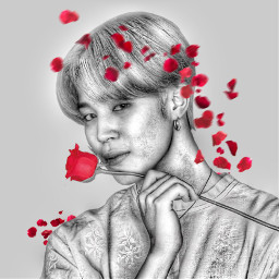 bts jimin kpop rose art freetoedit
