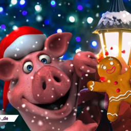 christmas santaphoto pig funnyedits funny