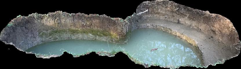 ground hole water lake earth freetoedit