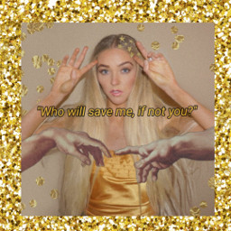 freetoedit girl aesthetic gold newyear