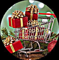 hello shoppingseason text shopping cart freetoedit scdecember december