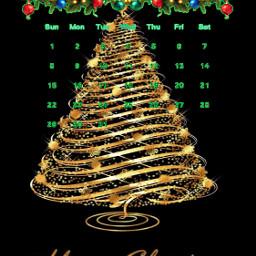 freetoedit tree gold calendar december srcdecembercalendar