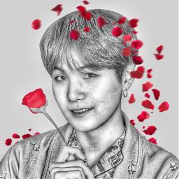 bts yoongi kpop rose art freetoedit