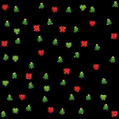 emoji collage christmas theme green freetoedit
