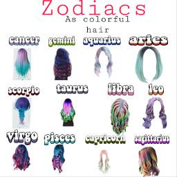 zodiacs hair freetoedit