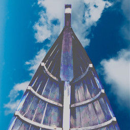 freetoedit canoe boat bluesky clouds