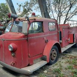 red old firetruck