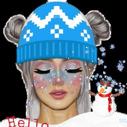 december colorful girl freetoedit scdecember