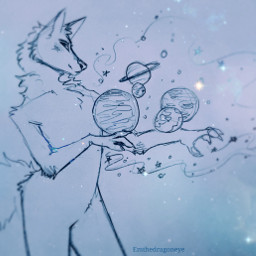 drawing anthro furry space