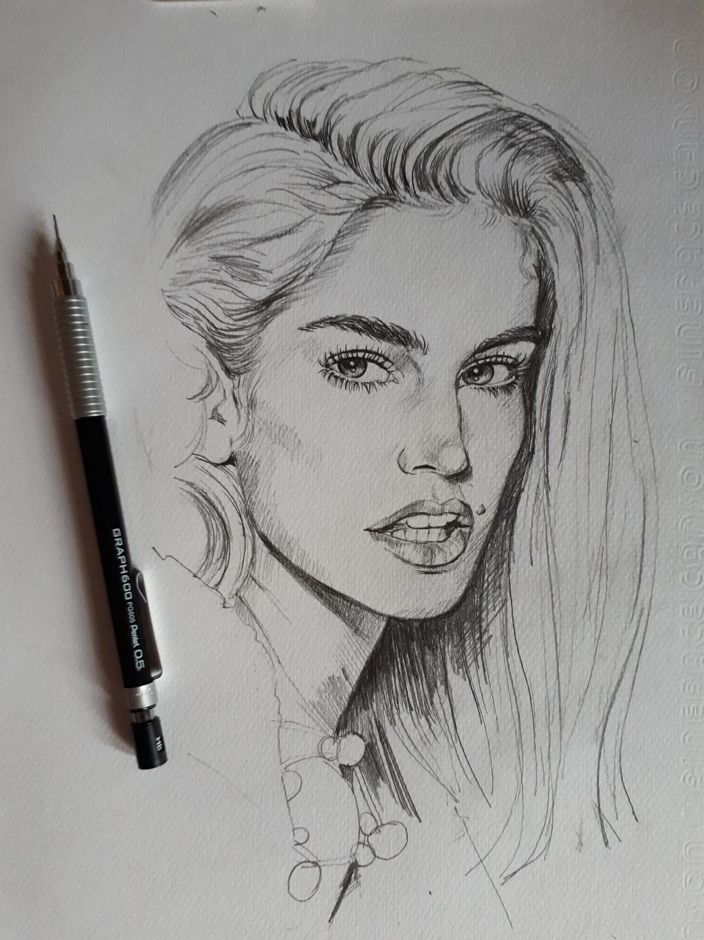 #drawing#sketch#cindy crawford😊🤗💖