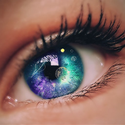eye space galaxy planets freetoedit