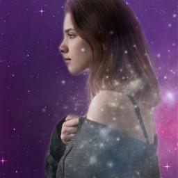 freetoedit fantasyart woman portrait galaxy