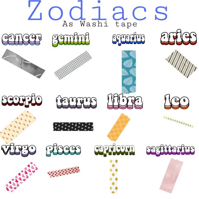 #zodiacs #washitape  #freetoedit