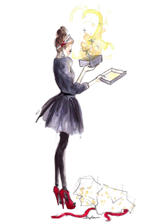 ftestickers watercolor woman gift present freetoedit