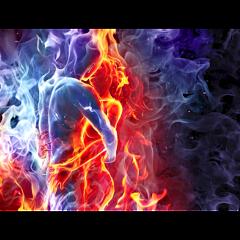ftestickers fantasyart couple love fireandice freetoedit