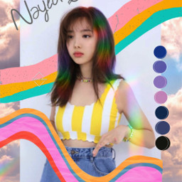 nayeon twice kpop cute colorful freetoedit