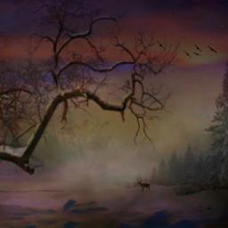 myedit nature childhood winter remix freetoeditedited