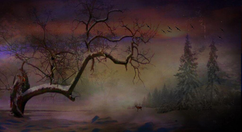 Winter Morning Delight #myedit #nature #childhood #winter #remix #stickers #freetoeditedited