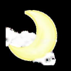 freetoedit yellow crescent moon