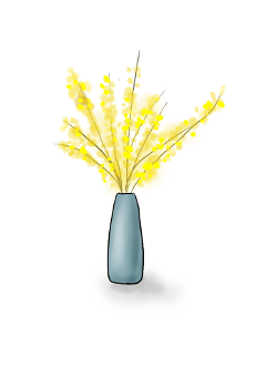 ftestickers vase flowers chinesestyle yellow freetoedit