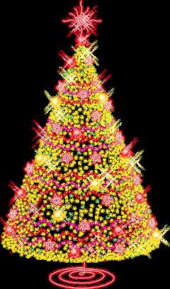 ftestickers christmas tree christmastree lights freetoedit